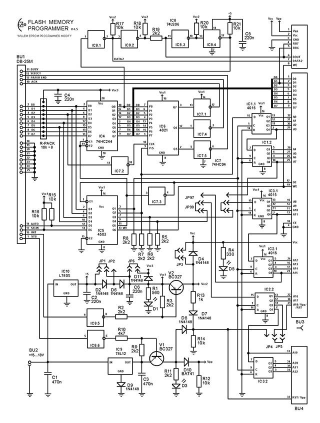 EZoFlash4v5 Эл.схема.