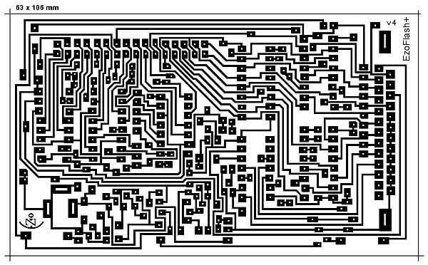 EZoFlash+ 4v4 Printed Circuit Board